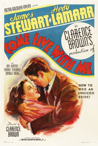"Come Live with Me (MGM, 1941). One Sheet (27"" X 41"") Style C"