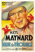 "Movie Posters:Western, Heir to Trouble (Columbia, 1935). One Sheet (27"" X 41"")...."