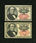 Fractional Currency:Fifth Issue, Fr. 1308 25c Fifth Issue VF. Fr. 1309 25c Fifth Issue XF.. ... (Total: 2 notes)