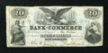 Obsoletes By State:Louisiana, New Orleans, LA- Bank of Commerce $20 May 1, 1862 G14b. ...