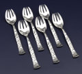 Silver Flatware, American:Tiffany, A SET OF SIX AMERICAN SILVER ICE CREAM FORKS. Tiffany & Co.,New York, New York, circa 1872. Marks: TIFFANY & CO.,STERLIN... (Total: 6 Items)