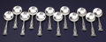 Silver Flatware, American:Gorham, A SET OF TWELVE AMERICAN SILVER GUMBO SPOONS. Gorham Manufacturing Co., Providence, Rhode Island, circa 1899. Marks: (lion-a... (Total: 13 Items)