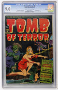 Golden Age (1938-1955):Horror, Tomb of Terror #3 (Harvey, 1952) CGC VF/NM 9.0 Cream to off-whitepages....