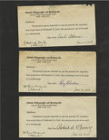 Autographs:Letters, 1920s Signed Contracts Lot of 5. Each of the contracts that weprovide here are for artists to use the likenesses of baseba...
