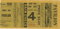Baseball Collectibles:Tickets, 1928 World Series Game Four Ticket Stub. The Yanks avenge their1926 Series loss to the Cardinals in brutal fashion, comple...