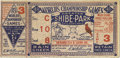 Baseball Collectibles:Tickets, 1931 World Series Game Three Ticket Stub. A Hall of Fame pitchingduel between the Cardinals' Burleigh Grimes and the Athle...