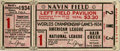 Baseball Collectibles:Tickets, 1934 World Series Game One Ticket Stub. Dizzy Dean gives up a longball to Hank Greenberg but otherwise handled the Detroit...