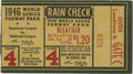 Baseball Collectibles:Tickets, 1946 St. Louis Cardinals World Series Ticket Stub. 1946 marked thefourth time in the decade that the talented St. Louis Car...