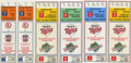 Baseball Collectibles:Tickets, 1987 Postseason Ticket Stubs Lot of 6. Here we celebrate the 1987major league baseball postseason on the form of a half-do...