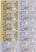 Baseball Collectibles:Tickets, 2001-02 St. Louis Cardinals Postseason Ticket Stubs Lot of 10.Great collection of postseason ticket stubs come from the St...