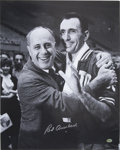 """Autographs:Photos, Red Auerbach Signed Oversized Photograph. Shown here in thisattractive 16x20"""" print are the man behind the glory years of ..."""