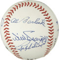 Autographs:Baseballs, 1989 Baseball Hall of Fame Induction Ceremony Multi-SignedBaseball. Some lucky attendant of the Hall of Fame inductioncere...
