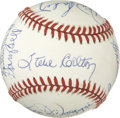 "Autographs:Baseballs, Boston Red Sox Greats and Old Timers Multi-Signed Baseball. Signedat a 1989 event dubbed ""Legends of Baseball,"" here sever..."