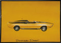 "Movie/TV Memorabilia:Original Art, George Barris Dodge Dart Production Profile Sketch. An 18"" x 13"" concept design sketch for an unspecified model year of the ... (Total: 1 Item)"