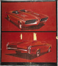"Movie/TV Memorabilia:Original Art, George Barris Fireball 500 Race Car Design Artwork. A pair of 20"" x 10.5"" design illustrations featuring a two-s... (Total: 1 Item)"