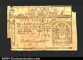 Colonial Notes:New York, February 16, 1771, 5 pounds, New York, NY-166, Fine. A number o...