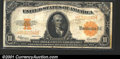Large Size Gold Certificates:Large Size, 1922 $10 Gold Certificate, Fr-1173, VF. There is a small edge n...