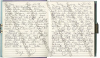 Anna Nicole Smith's Personal Journal From 1992. Absolutely fascinating diary handwritten by Smith during 1992 showing a...
