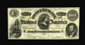 Confederate Notes:1862 Issues, T49 $100 1862. Cr-348, PF-2. While having the appearance of aChoice Unc note, closer scrutiny reveals multiple light folds,...