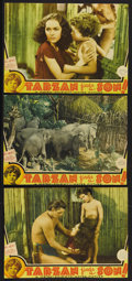 "Movie Posters:Adventure, Tarzan Finds a Son (MGM, 1939). Lobby Cards (3) (9.5"" X 13"").Action Adventure. Starring Johnny Weissmuller, Maureen O'Sulli...(Total: 3 Items)"