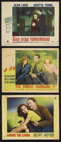 """Movie Posters:Drama, Susan Hayward Lot (Paramount, 1941-1944). Lobby Cards (3) (11"""" X 14""""). Drama. """"Among the Living"""" (1941), """"The Forest Rangers... (Total: 3 Items)"""