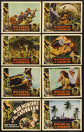 """Movie Posters:Documentary, Man Hunters of the Caribbean (Inter Continent, 1938). Lobby Card Set of 8 (11"""" X 14""""). Documentary. Starring Andre Roosevelt... (Total: 8 Items)"""