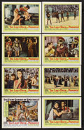 """Movie Posters:Adventure, The Last Days of Pompeii (United Artists, 1960). Lobby Card Set of8 (11"""" X 14""""). Adventure. Starring Steve Reeves, Cristina...(Total: 8 Items)"""
