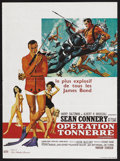 "Movie Posters:James Bond, Thunderball (United Artists, 1965). French Petite (16"" X 21.5"").James Bond Thriller. Starring Sean Connery, Claudine Auger,..."