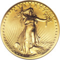 High Relief Double Eagles: , 1907 $20 High Relief, Flat Rim MS64 NGC. This is a sharply detailed satin near-Gem with brilliant yellow-gold surfaces. A s...