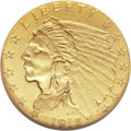 Proof Indian Quarter Eagles: , 1915 $2 1/2 PR66 NGC. A course grained light matte finishcharacterizes this lovely Premium Gem proof. Both sides havebril...