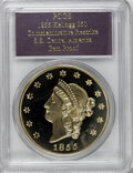 "Territorial Gold, SSCA Relic Gold Medal ""1855"" Kellogg & Co. Fifty Dollar GemProof PCGS...."