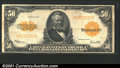 Large Size Gold Certificates:Large Size, 1922 $50 Gold Certificate, Fr-1200, VF. A solid example with mu...