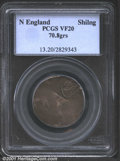 Undated (1652) SHILNG New England Shilling VF20 PCGS. Breen-8, Noe-III-C. 70.8 grains. By the 1630s, the British mercant...