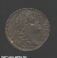 1724 FARTH Hibernia Farthing Pattern MS60 Brown Uncertified. Nelson-18. 71.90 grains. This is a Hibernia pattern we have...