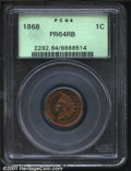 Proof Indian Cents: , 1868 1C, RB