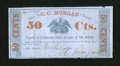 Obsoletes By State:Louisiana, New Orleans, LA- C.C. Morgan 50¢ March 1, 1862. ...