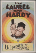 """Movie Posters:Comedy, Laurel and Hardy Stock (Film Classics, R-1940s). One Sheet (27"""" X41""""). Comedy...."""