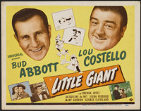 "Little Giant (Universal, 1946). Title Lobby Card (11"" X 14""). Comedy"
