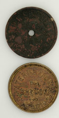 20th Century Tokens and Medals, International Saloon Token and Waco, Texas Token.... (Total: 2 tokens)