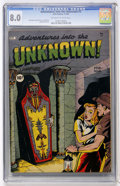 Golden Age (1938-1955):Horror, Adventures Into The Unknown #3 (ACG, 1949) CGC VF 8.0 Off-white towhite pages....