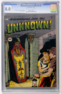 Adventures Into The Unknown #3 (ACG, 1949) CGC VF 8.0 Off-white to white pages
