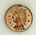 California Gold Charms, 1926 Alberta (Canada) 9-kt Gold Indian Head Charm....