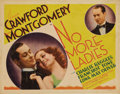 "Movie Posters:Comedy, No More Ladies (MGM, 1935). Title Lobby Card and Lobby Card (11"" X14"").... (Total: 2 Items)"