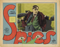 """Movie Posters:Thriller, Spies (MGM, 1928). Lobby Card (11"""" X 14"""")...."""