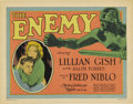 "Movie Posters:Drama, The Enemy (MGM, 1927). Title Card and Lobby Card (11"" X 14"")....(Total: 2 Items)"