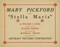 "Movie Posters:Drama, Stella Maris (Artcraft, 1918). Title Lobby Card and Scene Cards (2)(11"" X 14"").... (Total: 3 Items)"