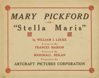 """Stella Maris (Artcraft, 1918). Title Lobby Card and Scene Cards (2) (11"""" X 14"""").... (Total: 3 Items)"""
