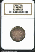 Proof Barber Quarters: , 1899 25C