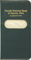 Explorers:Space Exploration, Orville Wright's Bank Account Ledger. ...