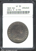 Early Half Dollars: , 1803 50C Small 3